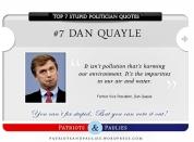 7.) Dan Qualye - Top 7 Stupid Politician Quotes