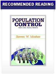 Recommended Reading - Population Control: Real Costs, Illusory Benefits by Steven Mosher